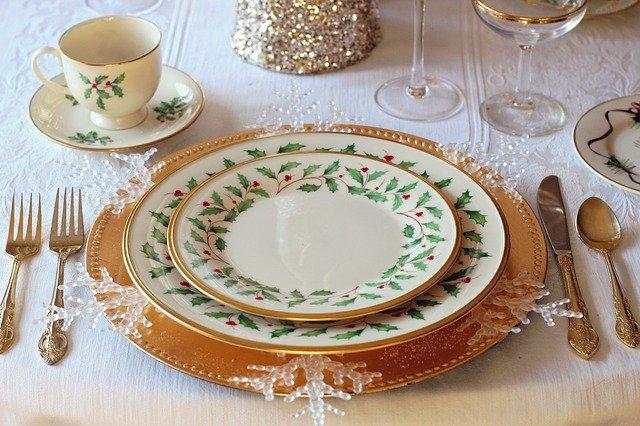 dekoracja wigilijnego stołu