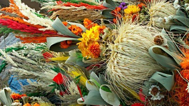 kwiaty z bibuły do palmy wielkanocnej